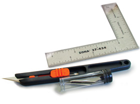 Hobby Knives, Blades and Mini Steel Rulers