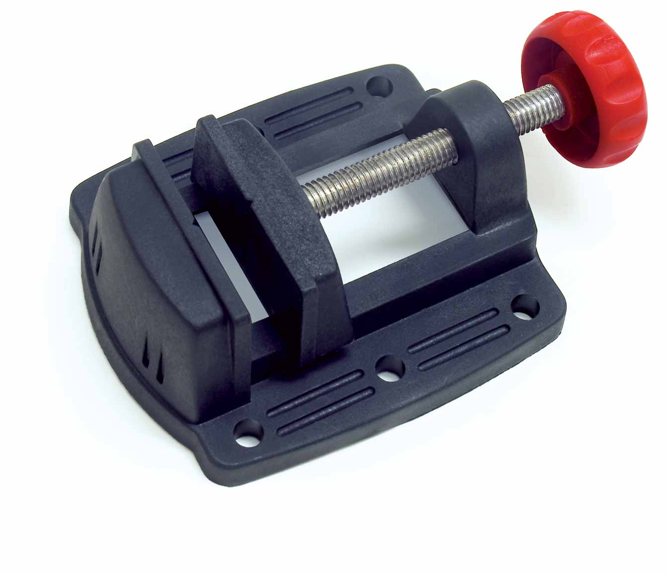 Plastic mini vise with stainless steel shaft hand