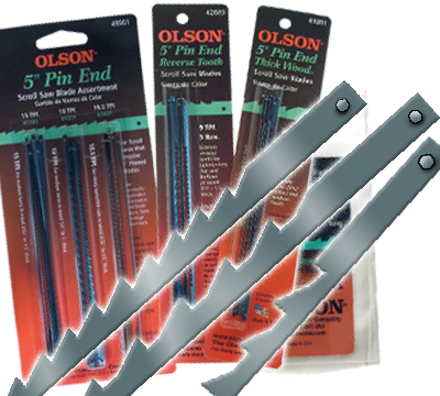 Olson® Pin End Scroll Saw Blades