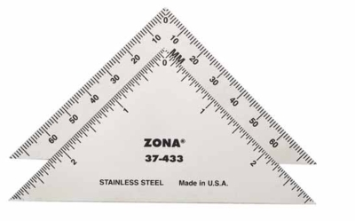 "37 433 400x249 - 3"" Triangle Ruler 37-433  3"" Triangle Ruler 37-433 - hobby-knives-blades-and-mini-steel-rulers, hand-tools"