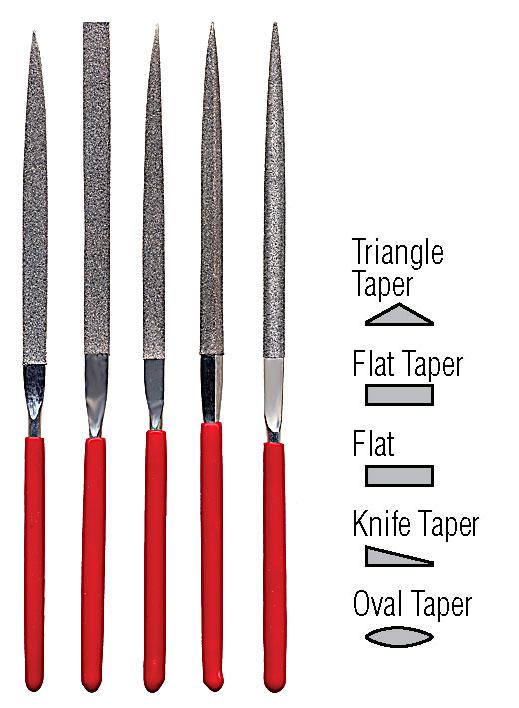 Flat Shape Diamond Needle File Set 37 354 Spoke Shave